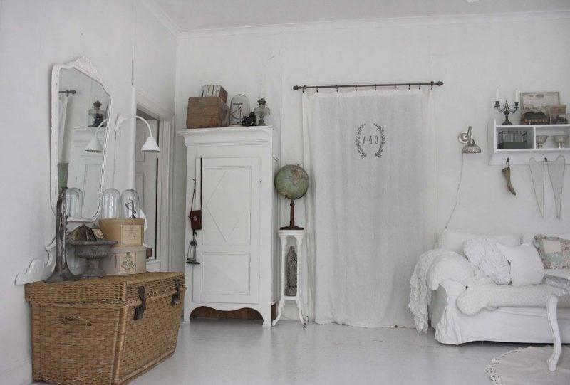 Landhausstil Möbel Weiß Sofa Kleiderschrank Wohnideen Einrichtung