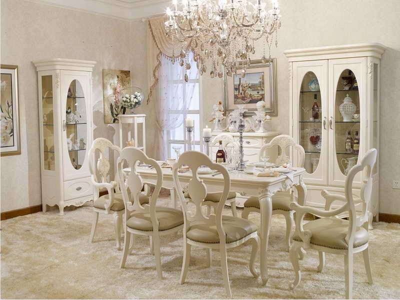 Landhausstil möbel weiß französisch landhaus esszimmer esstisch stuhl innendesign