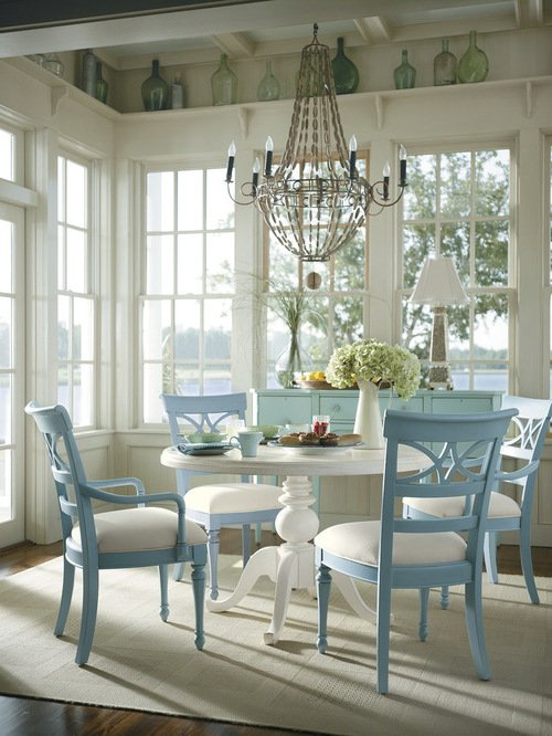 coastal living dining rooms inspiration im landhausstil 80 vorschl 228 ge f 252 r wei 223 e 16356