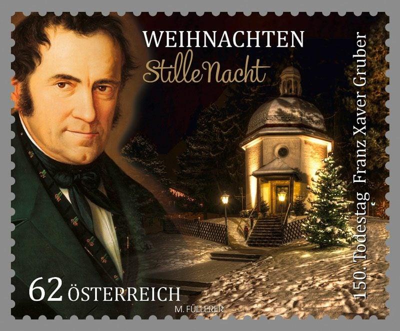 Weihnachtslieder Stille Nacht Briefmarke