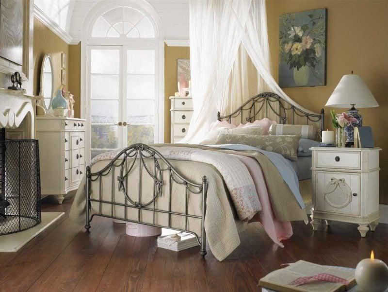 Möbel Landhausstil aus Rattangeflecht Schrank Bett Schlafzimmer Weiß