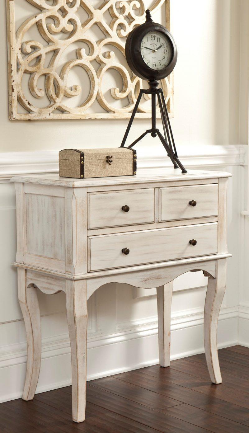 Möbel Landhausstil weiß Konsolentisch design dekodeen rustikale landhaus möbel uhr