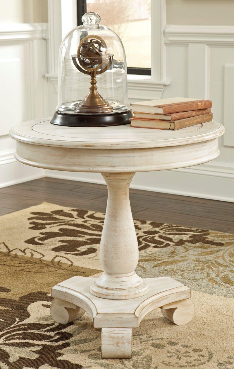 Möbel Landhausstil weiß Tisch holz tischdekoration accessoires wohnzimmer einrichten