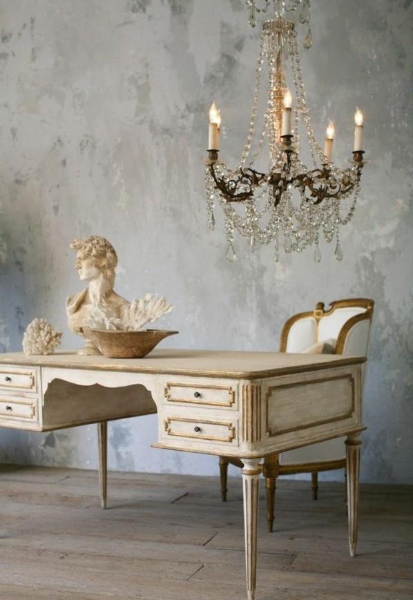 Möbel Landhausstil weiß antiquität büromöbel einrichten dekoideen