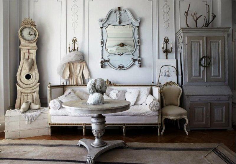 Möbel Landhausstil weiß beste ideen einrichtung effektvoll akzente spiegel sofa stuhl tisch accessoires
