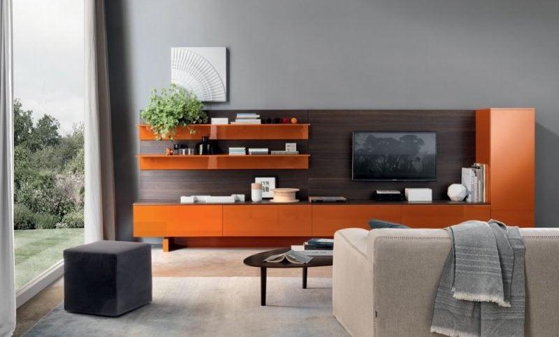 Mediamöbel in Orange: Farbe für jeden Geschmack!