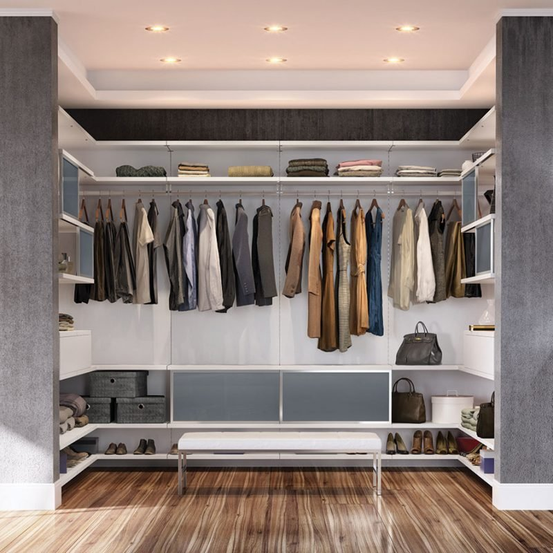 Offene Regalsysteme für Kleiderschränke für WOW Effekt