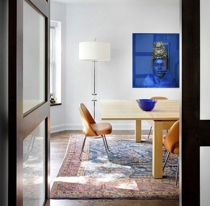 Orientteppich als Akzent im Interieur Esszimmer