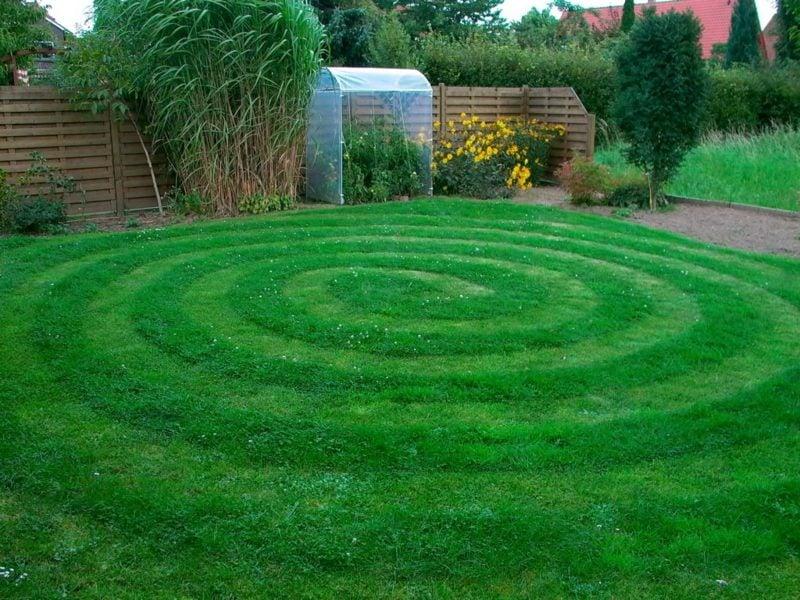 Rasen richtig vertikutieren originelle Technik Spirale