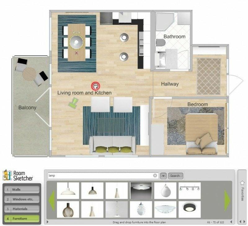 Innendesign 3d Raumgestalter RoomSketcher