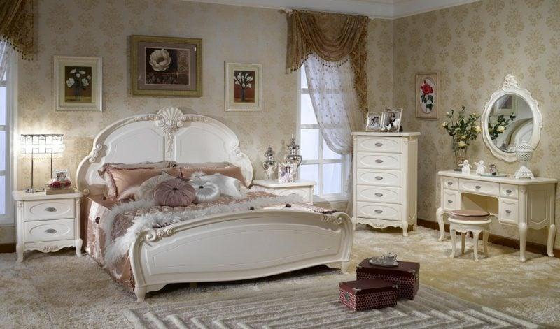 Schlafzimmer Einrichten Landhausstil Akzente Im Weiss