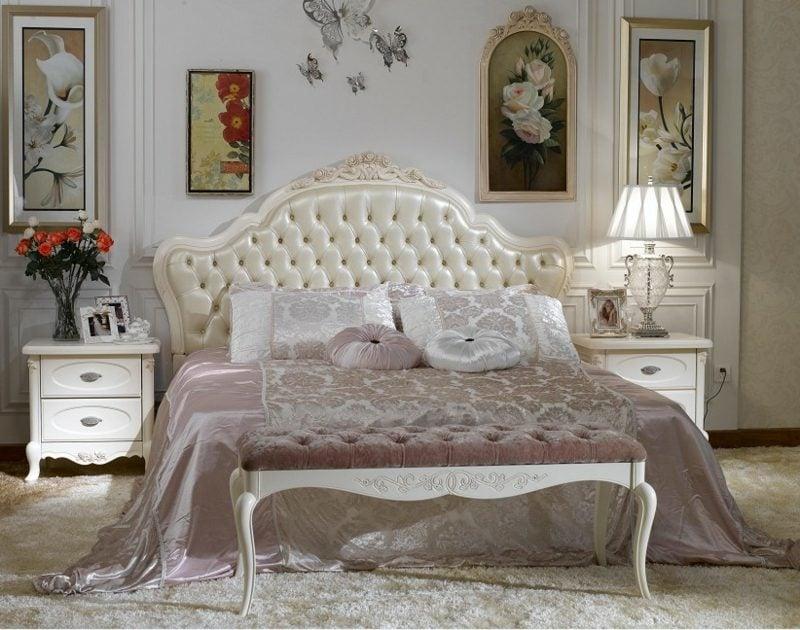 Schlafzimmer einrichten Barock Möbel riesiges Bett