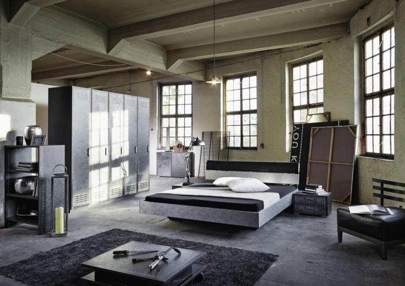 Schlafzimmer einrichten industriell moderne Ideen