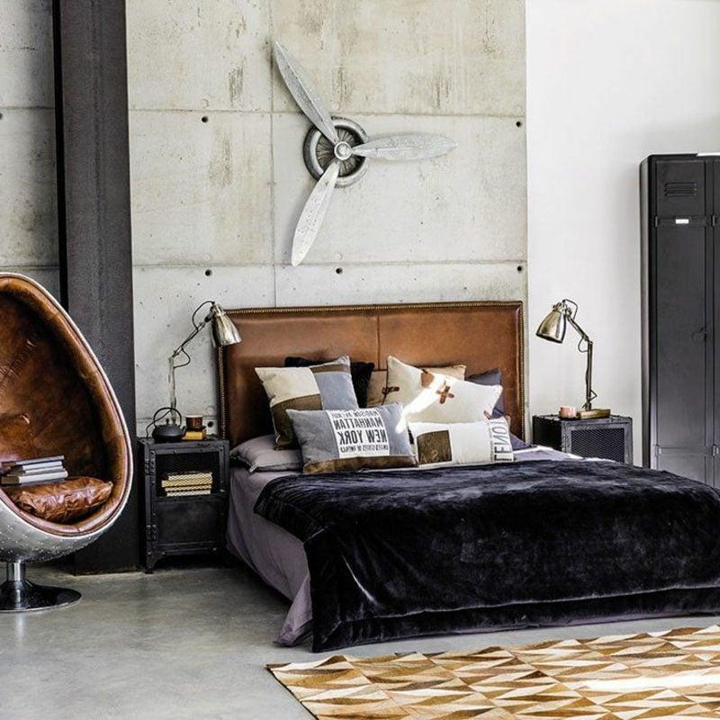 Schlafzimmer industrieller Einrichtungsstil atemberaubend modern