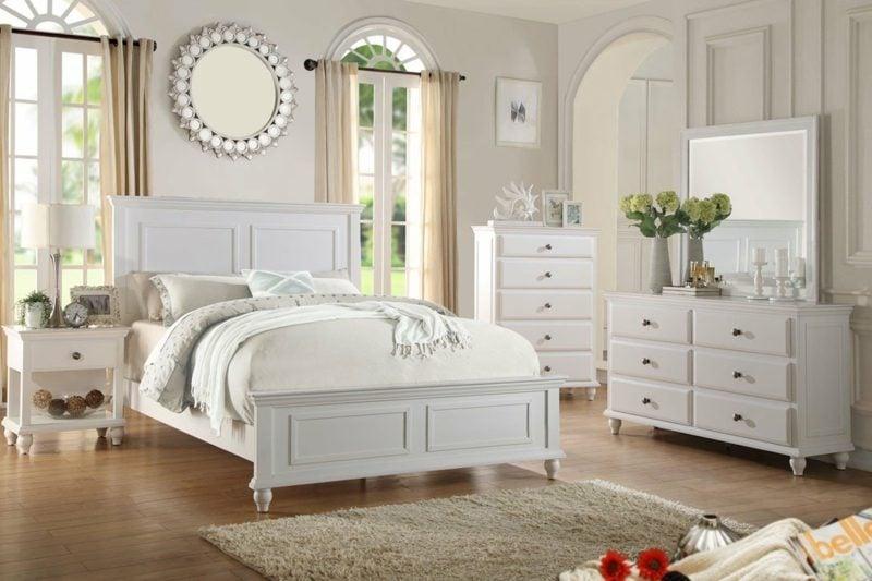 Schlafzimmer einrichten neutrale Farben Landhausstil