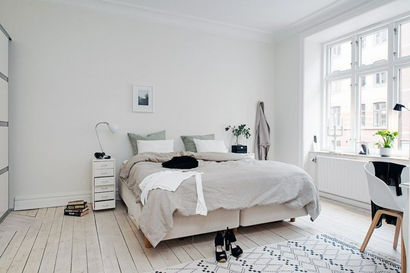 Schlafzimmer einrichten skandinavisch Eleganz und Komfort