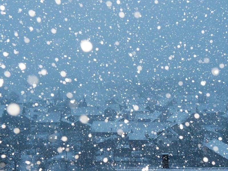 fallender Schnee Winter Weihnachten