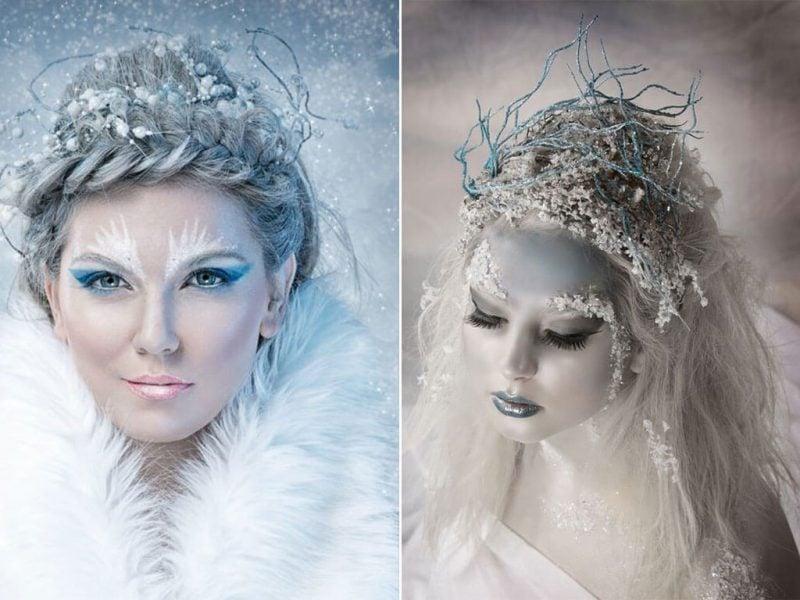 Schneekönigin kostüm coole accessoires outfit fasching ideen karnevalskostüm kaufen