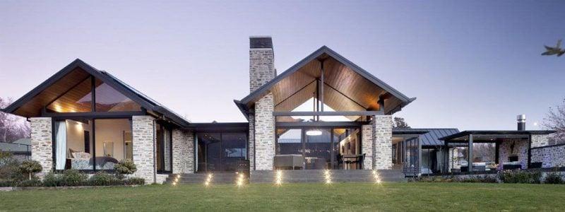 Schornsteinverkleidung verschönert die Fassade: viele Möglichkeiten