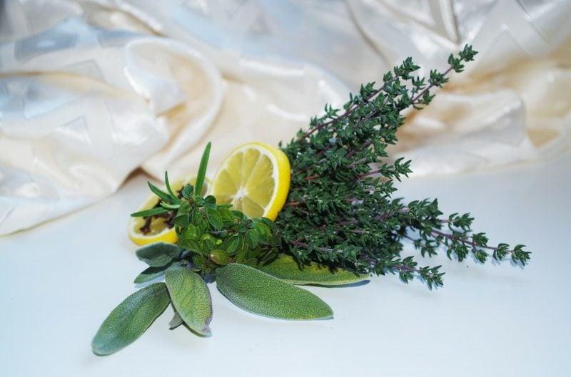 Seife selber machen einfache Rezept Zutaten Zitrone und Kräuter