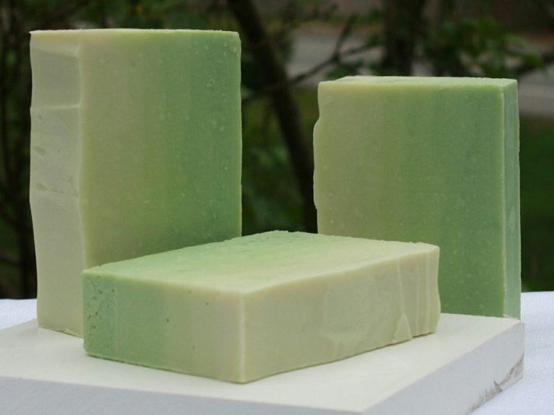 Seife selbst hergestellt grün