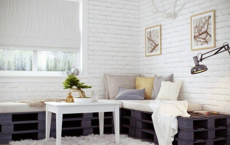 Palettensofa Wohnzimmer stilvoller Look