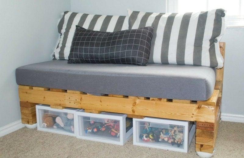 Europaletten Sofa kreative DIY Ideen