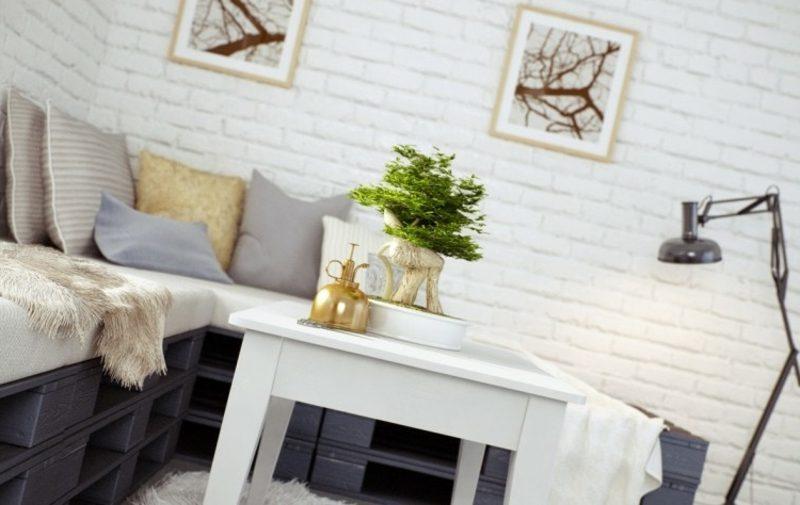 Palettensofa selber gebaut gestrichen herrlicher Look