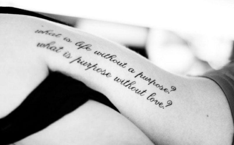 Schriftarten für Tattoo kreative Ideen Lebensfragen