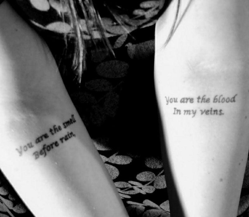 Schriftarten für Tattoo originelle Idee Versen
