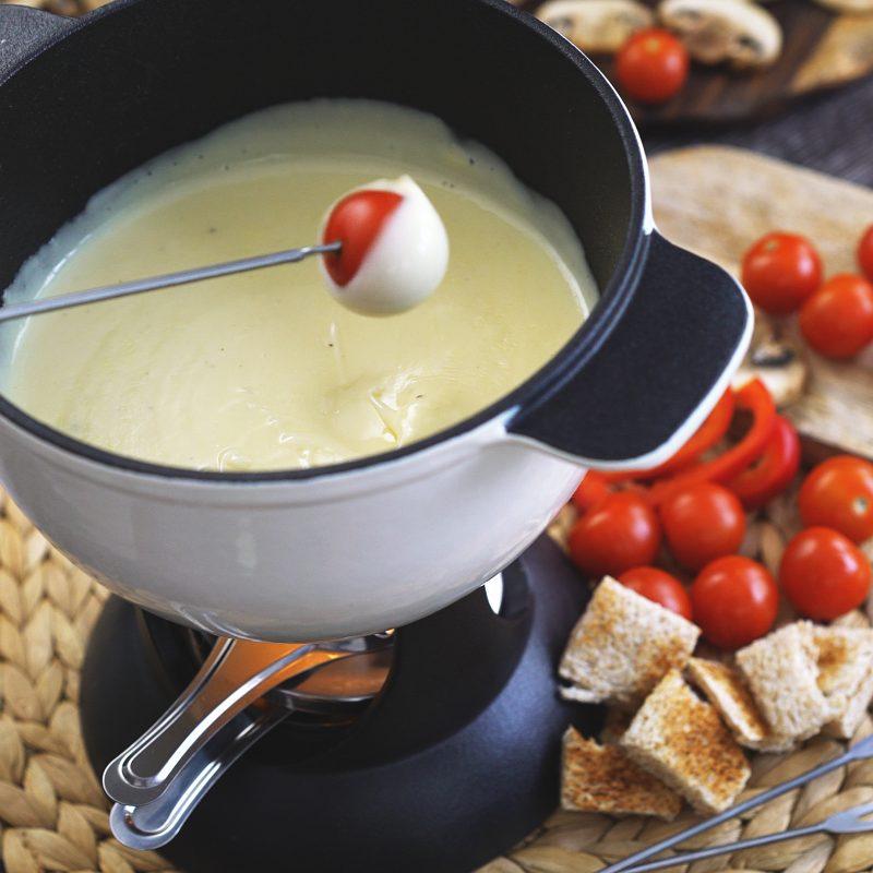 Tomaten als Käsefondue Beilagen!