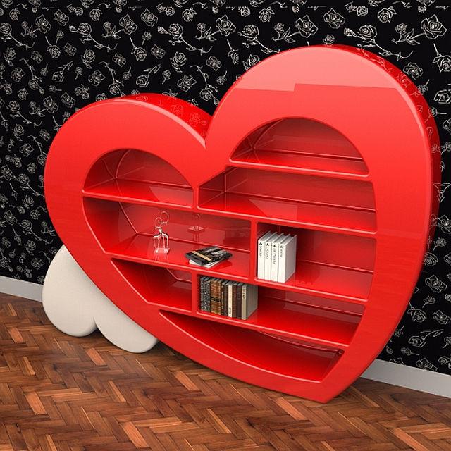 Bücherregal zum Valentinstag!