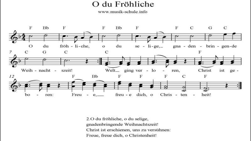 Weihnachtslieder O du fröhliche, o du selige