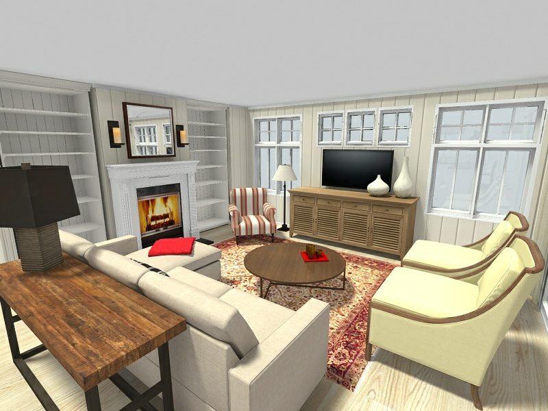 Wohnzimmerdesign RoomSketcher online Raumgestalter