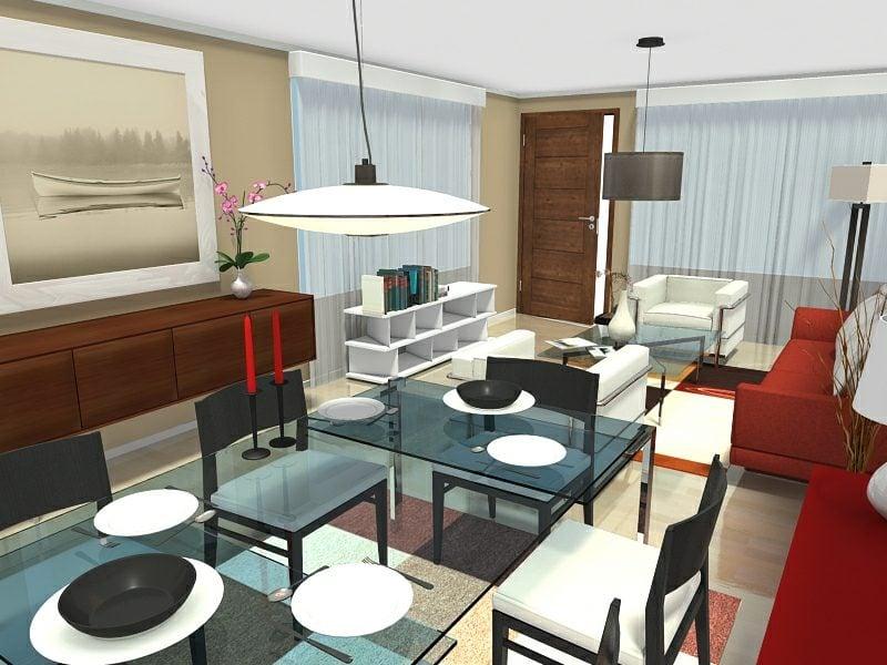 herr;liches Wohnzimmerdesign Raumgestalter RoomSketcher