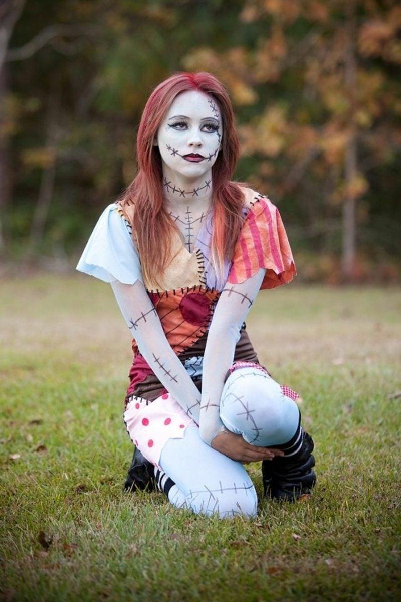 Halloween Kosüme Frauen Zombie gruselig