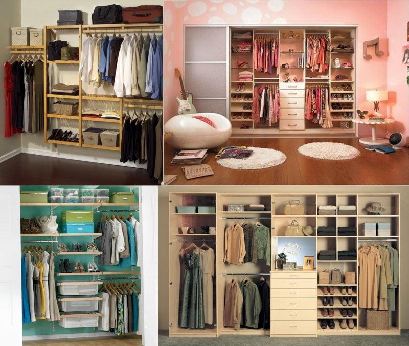 ankleidezimmer einrichten begehbarer kleiderschrank ideen planen offene regalsysteme