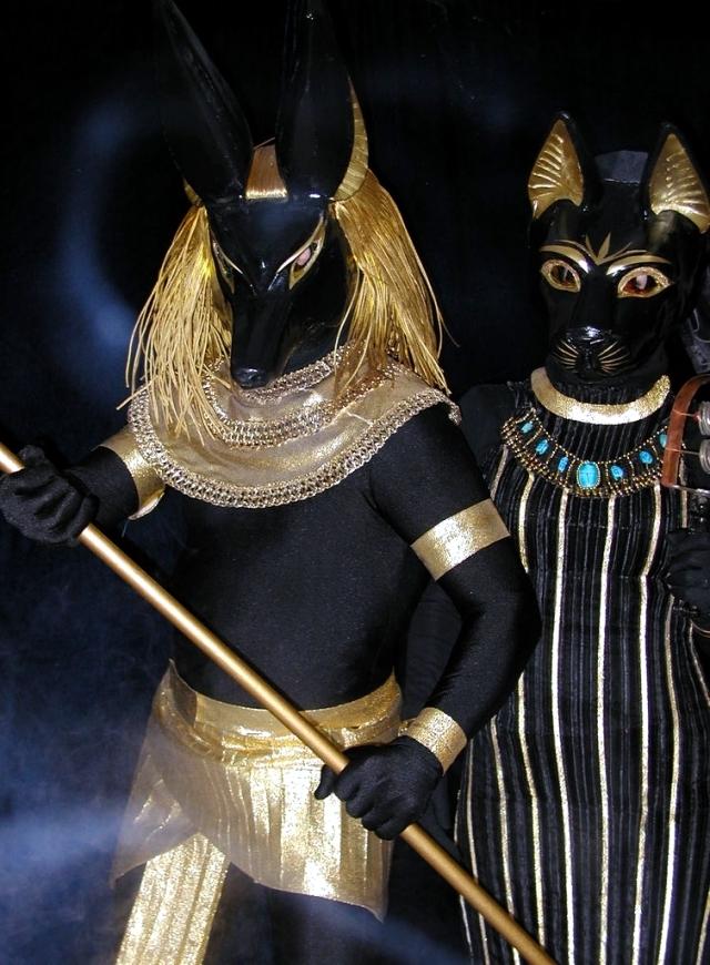 anubis hades gott kostüm fasching verkleidung gold coole accessoires griechischer gott und göttin