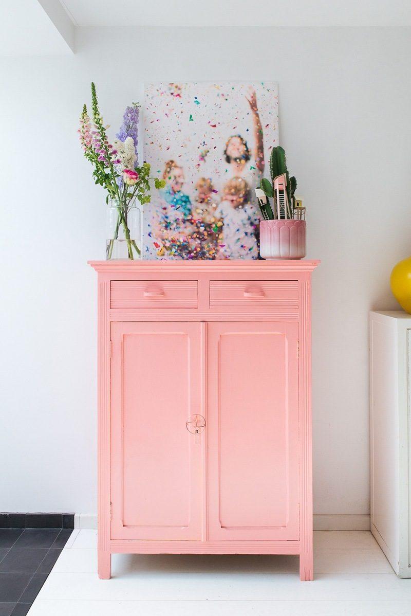 aufbewahrung rosa holz waschtisch dekoideen schönes bad ideen