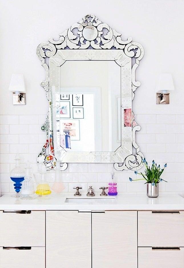 ausgefallener spiegel dekoideen badezimmer ideen