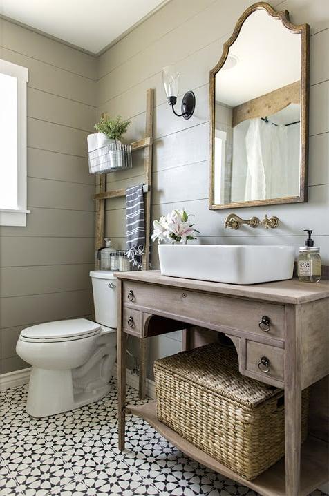 bad ideen selber machen rustikale badezimmer ideen