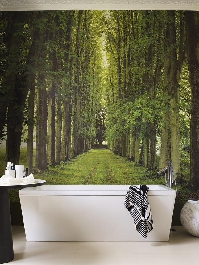 badewanne dekoideen badezimmer wandtapete inspiration badezimmer ideen modernes bad ideen