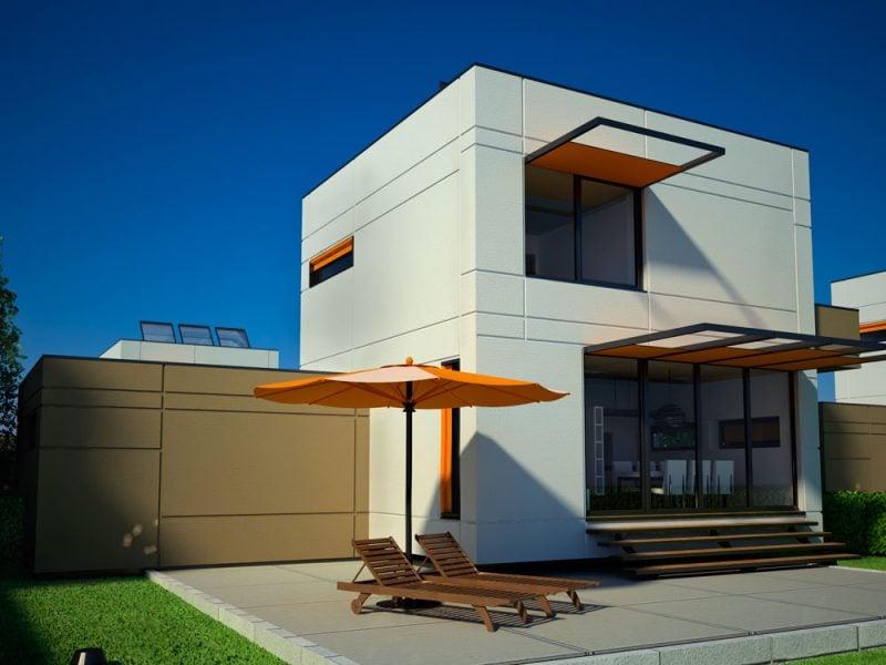 Bausatzhaus moderne Fassade