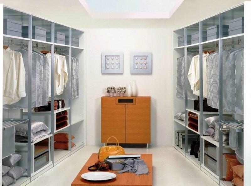begehbarer kleiderschrank traum schal schubladen grau wohnstil kleiderständer