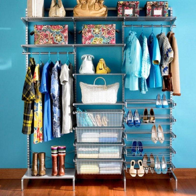 beste ideen begehbarer kleiderschrank schuhregal taschen kleiderständer