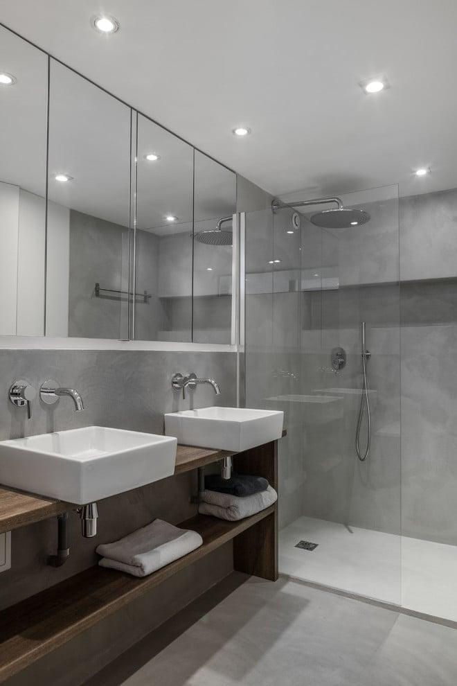 Mit Beton Cirè ein fugenloses Badezimmer gestalten
