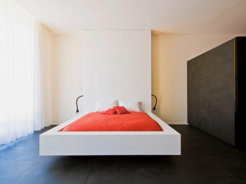 Beton Cire Betonoptik Wand Schlafzimmer
