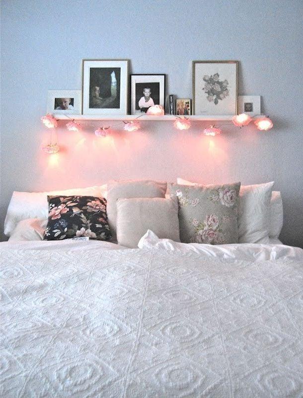 Blumen Deko Lampen Als Dekoration Schlafzimmer Einrichten Deko Ideen