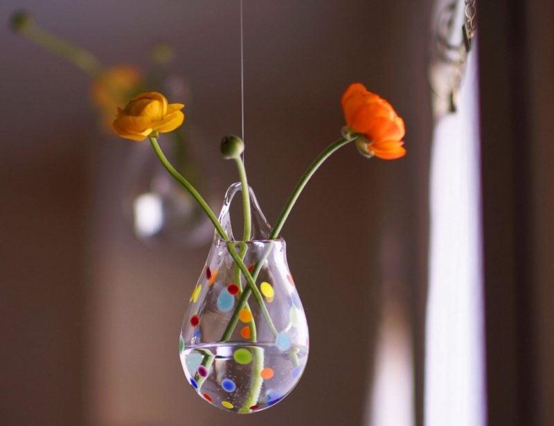 blumen dekoration hängen kreative diy deko ideen wohnzimmer