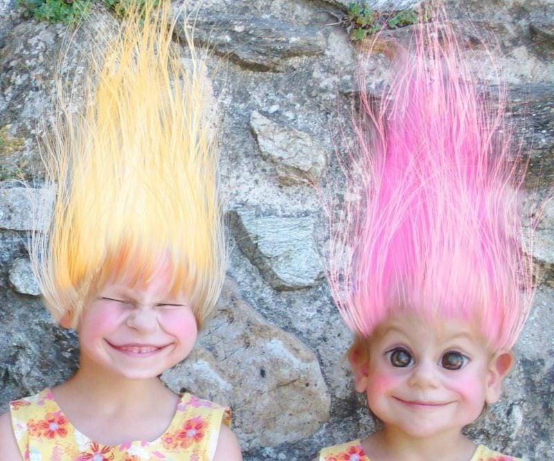 coole faschingskostüme selber machen troll kostüm fasching ideen